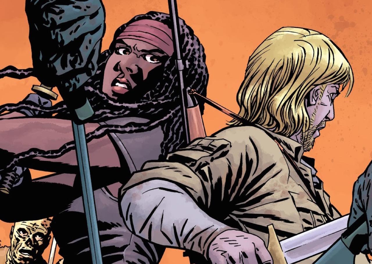 ウォーキングデッド コミック 154話 表紙のリックとミショーン