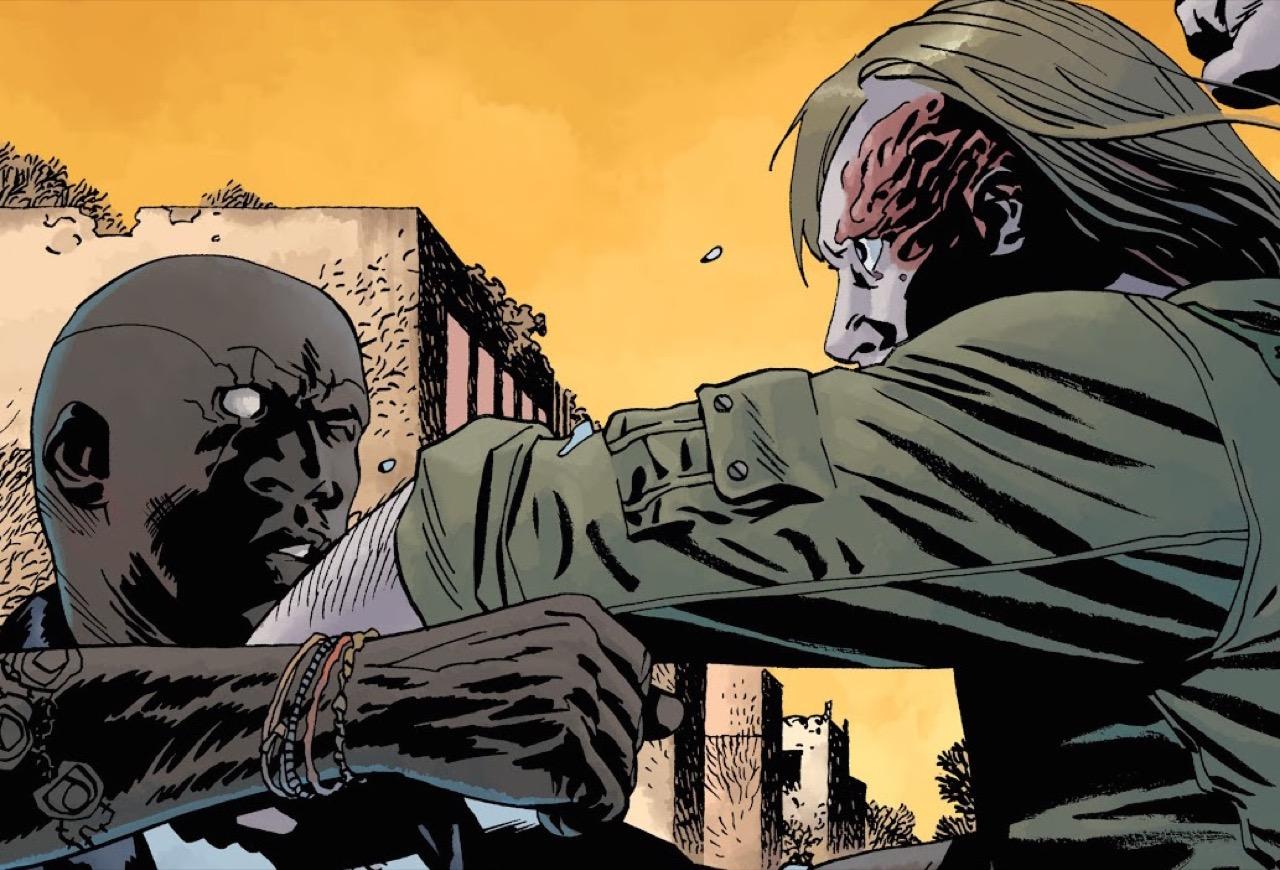 ウォーキングデッド コミック 166話 表紙のDwightとジョン