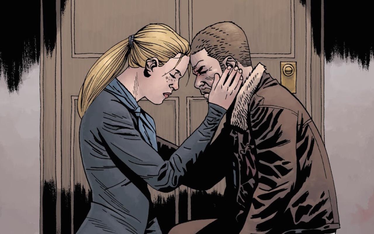 ウォーキングデッド コミック 167話 表紙のアンドレアとリック