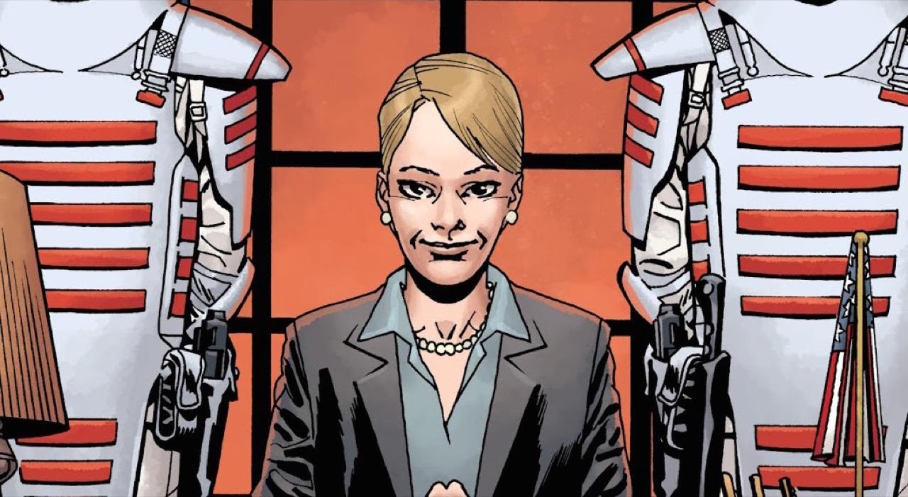 ウォーキングデッド コミック 176話 表紙のコモンウェルス知事 パメラ・ミルトン
