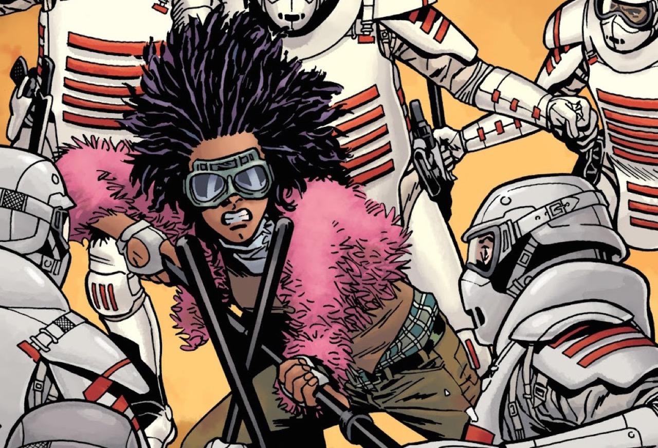 ウォーキングデッド コミック 178話 表紙 コモンウェルスのガードと戦うプリンセス