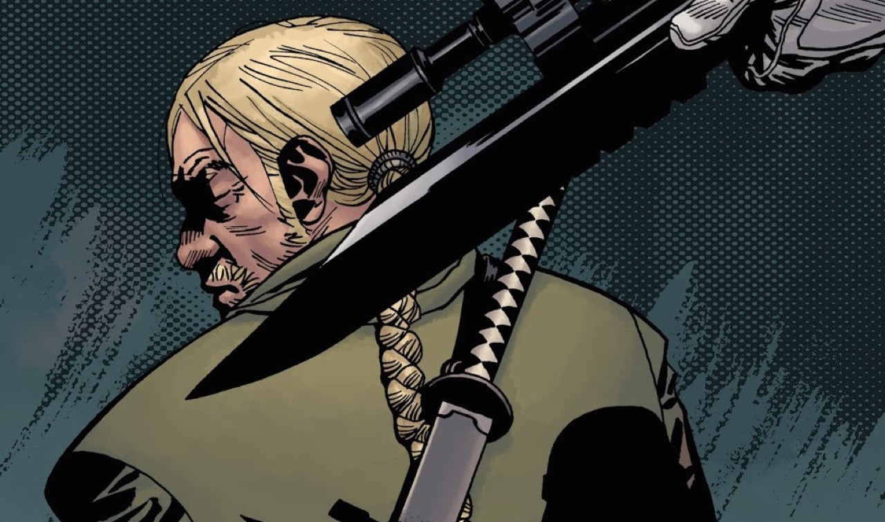 背後からコモンウェルスのガードに銃を突きつけられるユージン