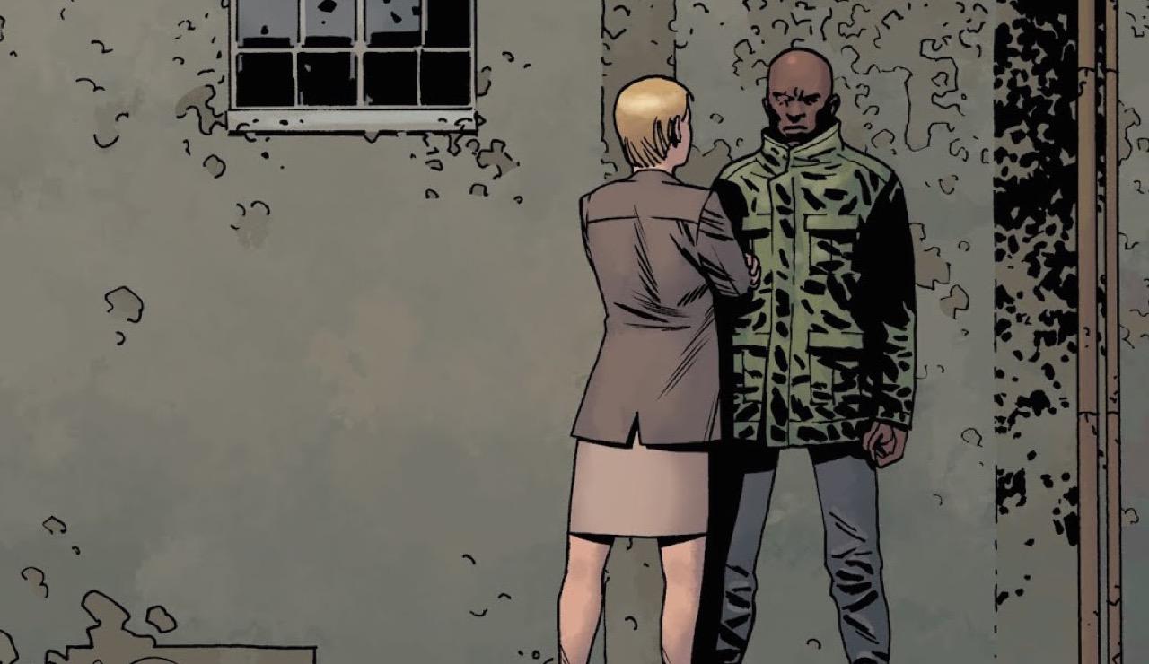 ウォーキングデッド コミック 182話 表紙 パメラとジョン