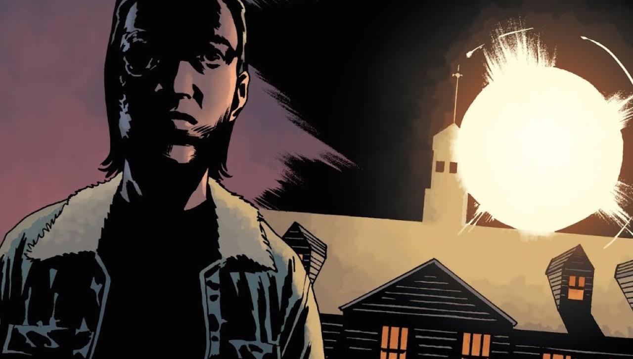 ウォーキングデッド コミック 185話 On Guard 表紙 ヒルトップにいるカール