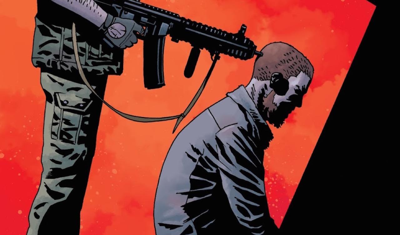 ウォーキングデッド コミック 169話 表紙のリックの後頭部に銃を突きつけるDwight