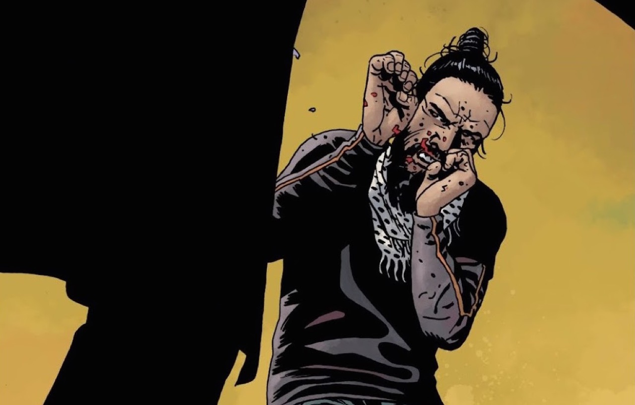 ウォーキングデッド コミック 173話 Final Fight 表紙 ベータと戦うジーザス